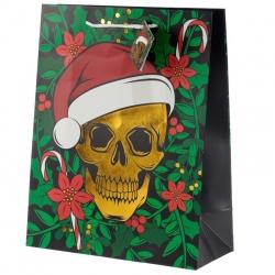Sac Cadeau de Noël- Crâne (Grand)