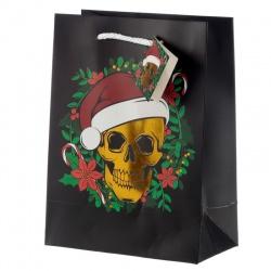 Sac Cadeau de Noël- Crâne (Moyen)